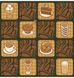 dessert texture vector image vector image