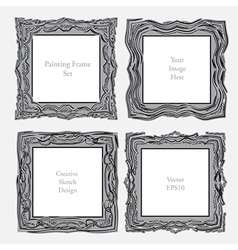 elegant antique square picture frame vector image