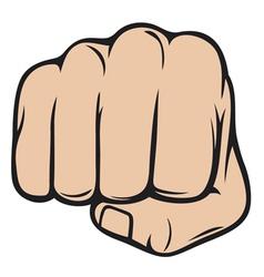 fist punching human hand punching vector image vector image
