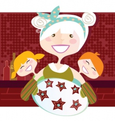 grandmother with perfect cookies illu vector image