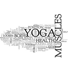 what yoga exercise do for you text word cloud vector image