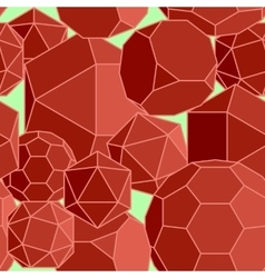 Abstract seamless background of red volume vector image