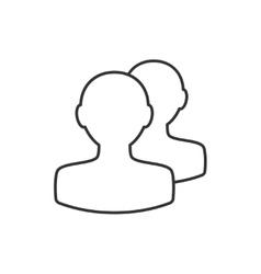 Avatar thin line icon vector image