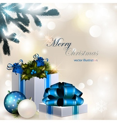 Christmas composition on brilliant vector image vector image