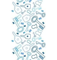 Keys line art vertical seamless pattern background vector image vector image