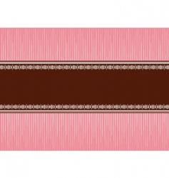 pink brown vector image vector image