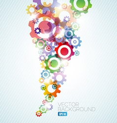 technical background made from cogwheels vector image vector image