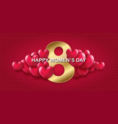 8 march card to international womens day with a vector