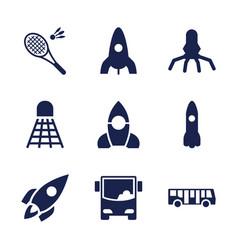 9 shuttle icons vector