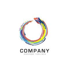 abstract circle business company logo vector image