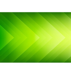 Abstract green eco arrows background vector image