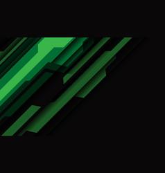 abstract green grey cyber geometric slash on dark vector image