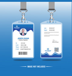 Abstract identification or id card design vector