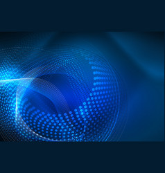 abstract particles wave background neon motion vector image
