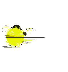 Abstract tech background with simple object vector