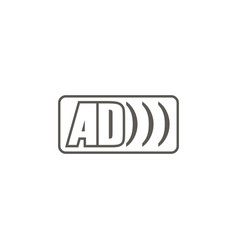 ad logo icon simple element from map and vector image