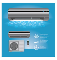 Air conditioner realistic vector