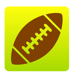 american simple football ball brown icon vector image vector image
