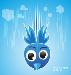 Angry bird fly on the sky vector