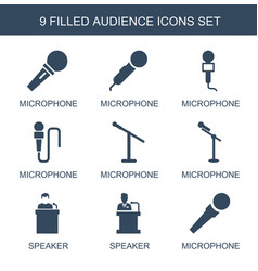 Audience icons vector