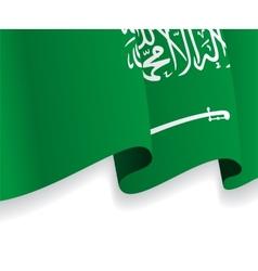 Background with waving saudi arabia flag vector