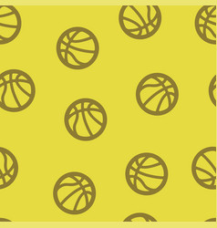 basketball pattern seamless vector image