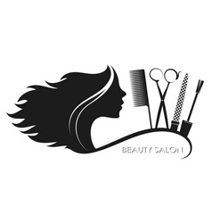 Beauty salon hairstyles and manicure vector