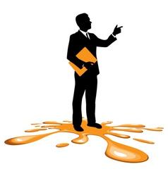 businessman splodge vector image