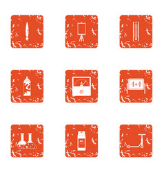 Chemical paint icons set grunge style vector