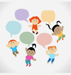 child background vector image
