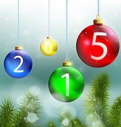 Christmas balls and Christmas tree on a background vector image
