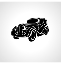 Classic car silhouette retro vintage hot vector image