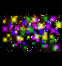 colorful tech square abstract background vector image