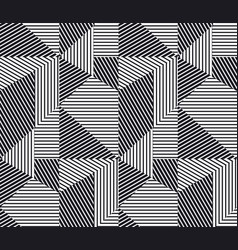 complex geometric stripes seamless pattern vector image