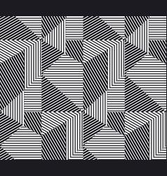 Complex geometric stripes seamless pattern vector