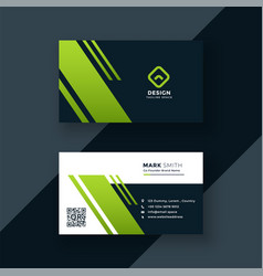 dark green business card professional design vector image