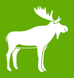 deer icon green vector image