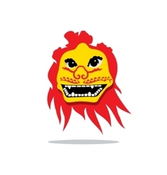 Dragon China Mask Cartoon vector