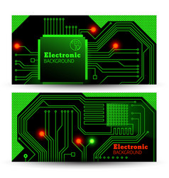 electric board banners set vector image
