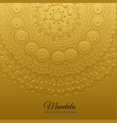 Ethnic mandala art decoration background vector