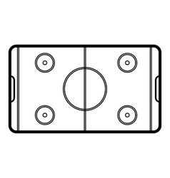 Field hockey icon outline style vector image