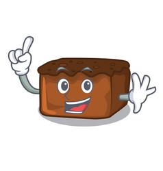 Finger brownies mascot cartoon style vector