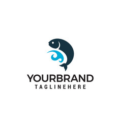 fishing symbol logo designs template vector image