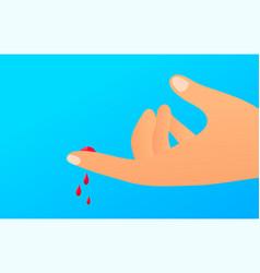 flat finger cut concept vector image