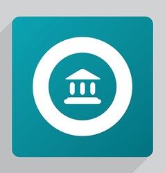 flat tribunal icon vector image