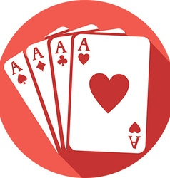Four aces icon vector
