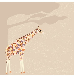 Giraffe card vector