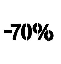 Graffiti discount made stencil -70 percent vector