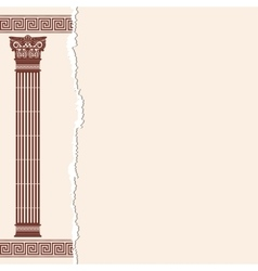Greek background vector image