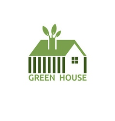 Green house for real estate business design vector